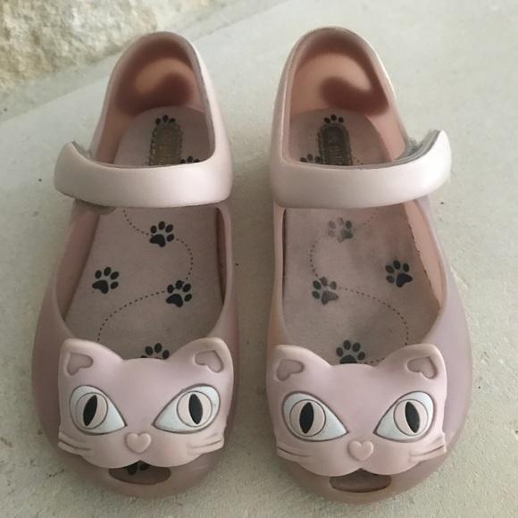 Mini Melissa Pink Kitty Cat Jelly Sandals US 9 83408a76772a